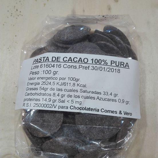 Pasta de cacao ,100% pura