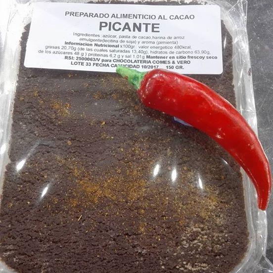 Tableta de chocolate a la piedra con Cayena 150gr.