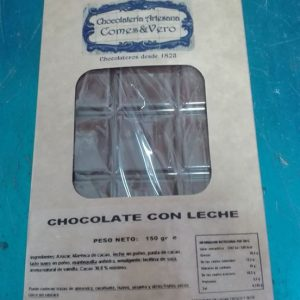 Tableta de chocolate LECHE 150 Gr.