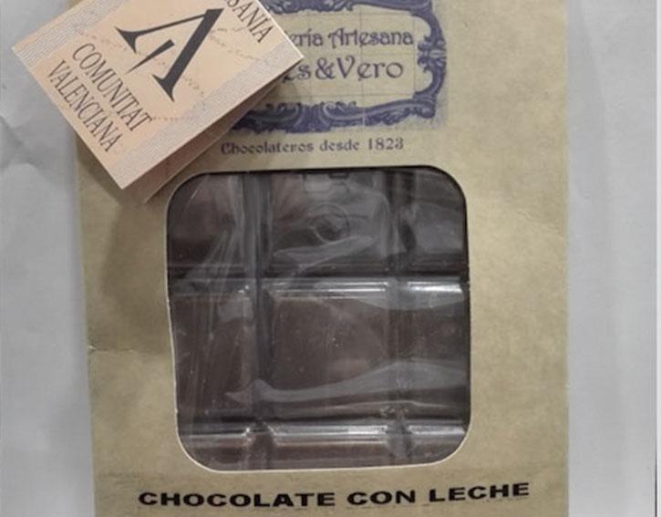 Tableta de chocolate LECHE 150 Gr.